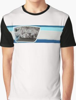 Car Headlamp / Headlight in Stripe - white Graphic T-Shirt