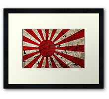 VINTAGE JAPANESE WW2 RISING SUN FLAG Framed Print
