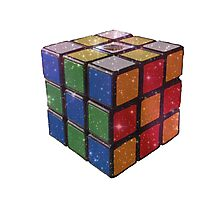 Galaxy Rubik's Cube Photographic Print