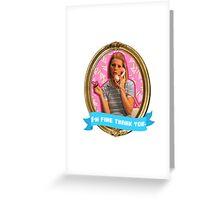 Margot Tenenbaum Frame Greeting Card