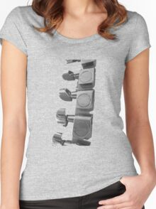 Fender Guitar tuner pegs Women's Fitted Scoop T-Shirt
