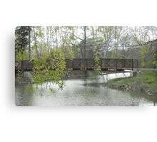 Willow over Bridge Canvas Print
