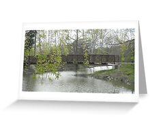 Willow over Bridge Greeting Card