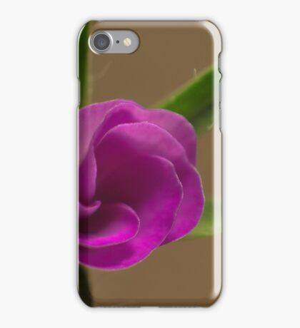pink flower opening up iPhone Case/Skin