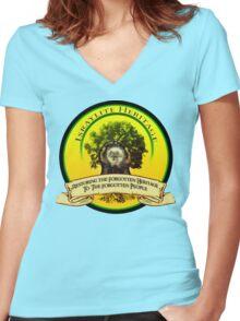 IH CUSTOM LOGO Women's Fitted V-Neck T-Shirt