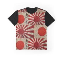 WW2 VINTAGE JAPANESE RISING SUN FLAGS Graphic T-Shirt