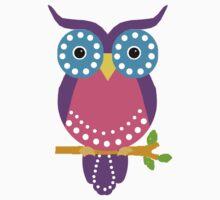 Owl Dots Tee One Piece - Short Sleeve