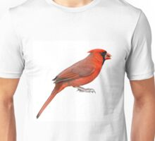 Northern Cardinal Isolated on White Unisex T-Shirt