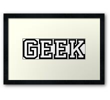 Geek in Greek Style Shirt Framed Print