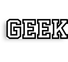 Geek in Greek Style Shirt Canvas Print