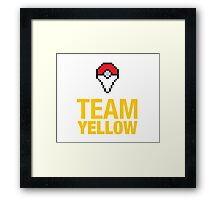 Team Yellow Poké Plus Framed Print