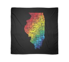 illinois color county map Scarf