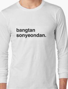 BANG BANG BANGTANSOYOUNDAN! Long Sleeve T-Shirt