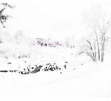 A Winter Day In Idaho Falls Photographic Print