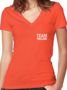 Team Yellow Women's Fitted V-Neck T-Shirt