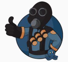 BLU Vault Pyro - Blue Brain Slug T-Shirt