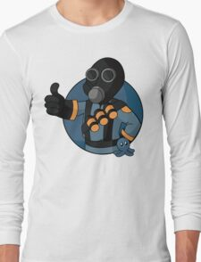 BLU Pyro - Blue Brain Slug Long Sleeve T-Shirt