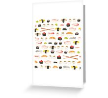 Sweet Sushi Pattern Greeting Card