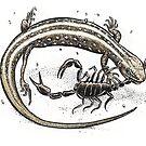 Lizard V Scorpion by SnakeArtist