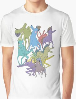 Horse on Horse on Horse Graphic T-Shirt