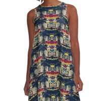 Good Luck Totem Pole  A-Line Dress