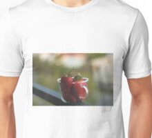 Strawberries in a cup Unisex T-Shirt