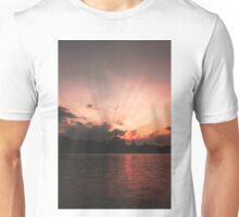 Sunset over the lake Unisex T-Shirt