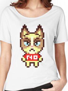 Grumpy Cat Animal Crossing Pixel Women's Relaxed Fit T-Shirt