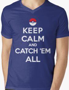 Keep Calm and Pokemon Mens V-Neck T-Shirt