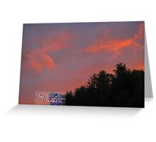 peachy spring sunset Greeting Card