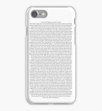 I'm So Much Happier Now That I'm Dead iPhone Case/Skin