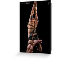 Elongated Suspension Rope Greeting Card