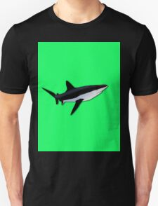 Great White Shark  on Acid Green Fluorescent Background Unisex T-Shirt