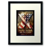 Justice Served. Framed Print