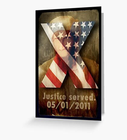 Justice Served. Greeting Card