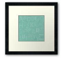 Mint Alphabet Framed Print