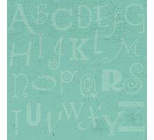 Mint Alphabet Photographic Print