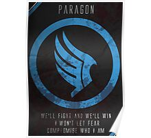 Paragon Mass Effect Poster Poster