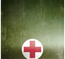 Vintage WWII Army Green Red Cross by txjeepguy2