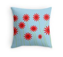 Field of Flowers- digital art  Throw Pillow