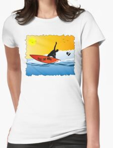 Surfing Design Womens Fitted T-Shirt