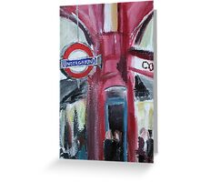 London Underground Covent Garden Tube Station Acrylic Painting Greeting Card