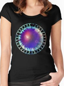 Galaxy Flower Women's Fitted Scoop T-Shirt