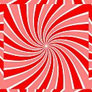 Red and White Swirl Pattern Products by Vickie Emms