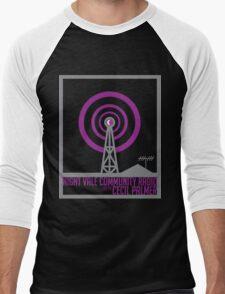 Night Vale Community Radio Men's Baseball ¾ T-Shirt