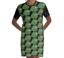 Pepe The Frog  Graphic T-Shirt Dress