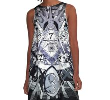 Eye of lizard providence A-Line Dress