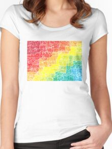 colorado color counties Women's Fitted Scoop T-Shirt