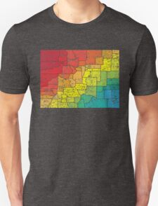 colorado color counties Unisex T-Shirt