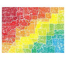 colorado color counties Photographic Print